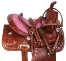 Pink Youth Kids Western Bling Show Pony Saddle Tack 12 13
