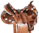 Hand Carved Western Pleasure Trail Horse Saddle 14