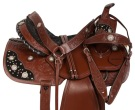 Beautiful Carved Crystal Western Show Barrel Saddle 14 16 [10842]