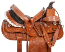 Silver Studded Western Roping Ranch Horse Saddle 15[10857]