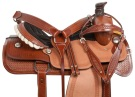 Western Ranch Roping Tooled Leather Horse Saddle 15 17