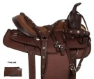 Brown Synthetic Pleasure Trail Western Horse Saddle 14 15 [10900]