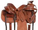 Western Rough Out Ranch Roping Leather Horse Saddle 15 17 [10907]