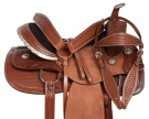 Western Ranch Work Pleasure Rough Out Horse Saddle 16 [10908]