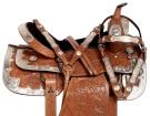 Light Chestnut Hand Carved Silver Show Western Saddle[10936]