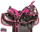 Pink Texas Star Youth Synthetic Western Horse Saddle 10 13