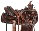 Antique Silver Studded Western Leather Horse Saddle 15 16