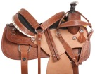 Western Leather Mule Hide Ranch Roping Horse Saddle 15 16
