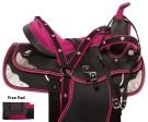 Pink Silver Barrel Racer Western Horse Saddle Tack 14 15[10948]