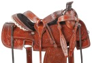Hand Carved Western Roping Ranch Horse Saddle Tack 15 18