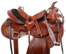 Comfy Western Tooled Leather Trail Horse Saddle Tack 15 16