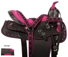 Pink Crystal Western Synthetic Show Hose Saddle Tack 14 16