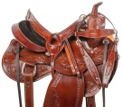 Premium Hand Carved Western Pleasure Horse Saddle Tack