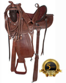 Comfortable Brown Trail Endurance Gaited Horse Saddle 15 16 17 1 [1157G]