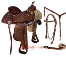 Western Hand Carved Deep Seat Comfortable Saddle 16 [2093] (Out Of Stock)