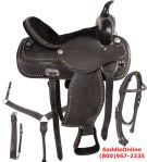 Black Western Pleasure Trail Horse Saddle 18 [2893] (Out Of Stock)