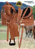 Comfy Hand Tooled Western Pleasure Trail Horse Saddle 16 18 [2910] (Out Of Stock)