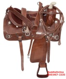 Western Pleasure Trail Training Ranch Horse Saddle 16 [2971]