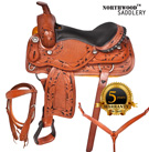 Custom Western Barrel Show Leather Horse Saddle Tack 15 17[2988C] (Out Of Stock)