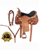Rough Out Western Trail Ranch Horse Saddle 16 18 [3027]