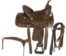 Brown Western Kids Horse Leather Saddle 14 [3044] (Out Of Stock)