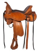 New Premium Leather Western Treeless Horse Saddle 15 17 [3103]