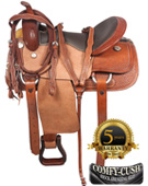 Rough Out Western Pleasure Trail Horse Leather Saddle 17 [3117] (Out Of Stock)