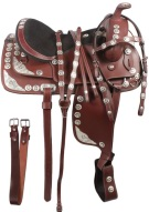 Texas Star Mahogany Western Show Saddle 16 [3126] (Out Of Stock)