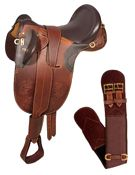 Brown Australian Saddle Stirrups Over Girth 18 20 [3159A] (Out Of Stock)