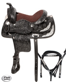 Kids Youth Black Pony Show Saddle 11 [4739] (Out Of Stock)
