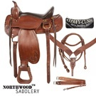 16 Tooled Brown Leather Endurance Western Horse Saddle [5927] (Out Of Stock)