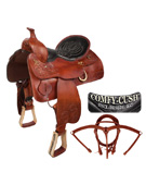 Premium Padded Leather Western Trail Saddle 16 [5937A] (Out Of Stock)
