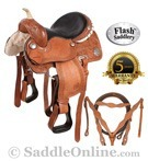 Western Ostrich Seat Barrel Racing Horse Saddle 16 [5965A] (Out Of Stock)
