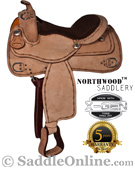 16 Roughout Western Leather Training Trainer Horse Saddle [5968]
