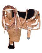 Western Custom Hand Carved Silver Show Horse Saddle 15 17 [6004] (Out Of Stock)