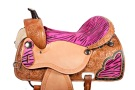 Pink Zebra Barrel Racing Western Horse Saddle 15 16 [6073NT] (Out Of Stock)