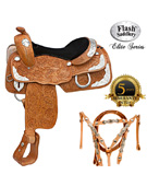 Flash Saddlery Elite Classic Silver Show Saddle [6100] (Out Of Stock)
