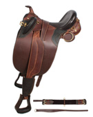 Brown Comfortable Australian Leather Horse Saddle 16 17 [8017]