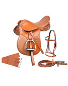 New Tan All Purpose AP English Riding Saddle 16 18 [8040] (Out Of Stock)