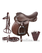 English Starter All Purpose Saddle Set 16 18 Brown