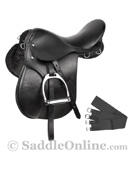 New Black All Purpose English Riding Saddle 15 18 [8042NB]
