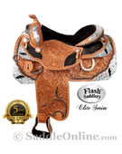 Western Horse Lightning Bolt Show Saddle by Flash [8048] (Out Of Stock)