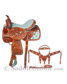 Barrel Racing Turquoise Saddle & Tack On Sale 16 [8058] (Out Of Stock)