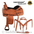 Texas Star Hand Carved Western Horse Saddle 17 [8066]