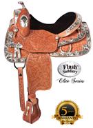 Western Horse Shine On Elite Show Saddle by Flash 16[8101]
