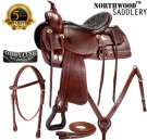 15 Comfortable Old West Trail Endurance Horse Saddle[8136A]