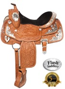 Flash Western Leather Silver Show Horse Saddle 15 [8141] (Out Of Stock)