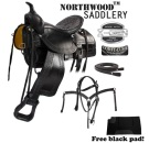 Comfortable Black Old Time Trail Rider Western Horse Saddle [8158]