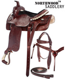 New Dark Brown Ranch Work Roping Western Saddle 16 [8171]
