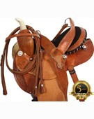 Natural Barrel Racing Arabian Saddle Tack Package 14 [8181]